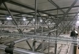 Монтаж системы электроосвещения и электроснабжения мясокомбината